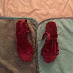Aldo pink wedge heels- Size 38 / Size 7